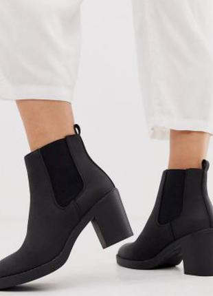 Ботинки челси кожаные