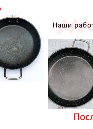Нанесення антипригарного тефлонового покриття на сковорідці