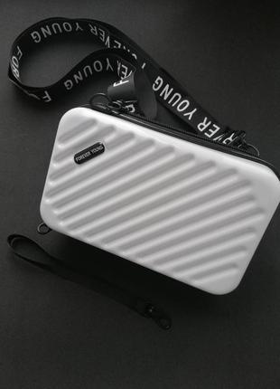 Пластиковая сумка чемодан клатч