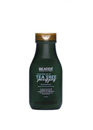 Шампунь для жирного волосся з олією чайного дерева - essential...