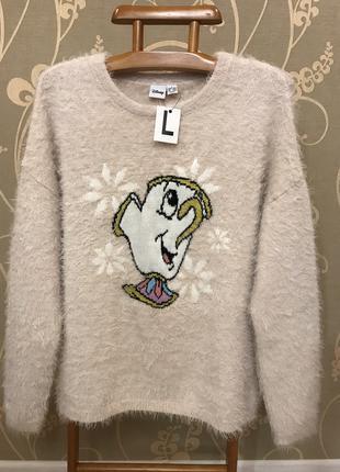 Нереально красивый и стильный брендовый вязаный свитерок.
