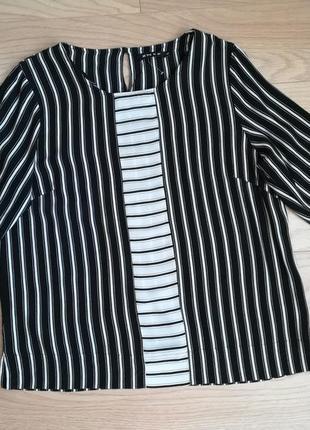 Стильная блуза в полоску, вискоза