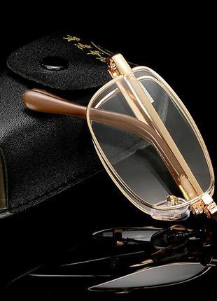 Очки для чтения,складные,унисекс,золото\серебро,металл от+1до+4.0