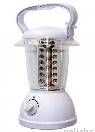 Фонарь аккумуляторный кемпинговый YJ-5832 с регулятором 24 LED