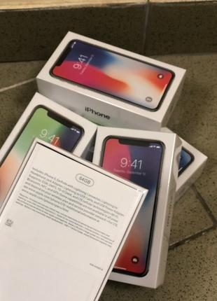 IPhone X 64 gb (Новые)