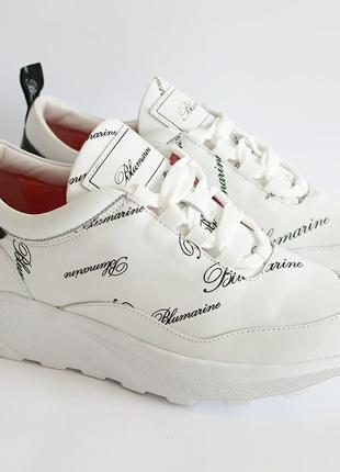 Белые кроссовки BLUMARINE с CLG кодом Италия оригинал 40 новые