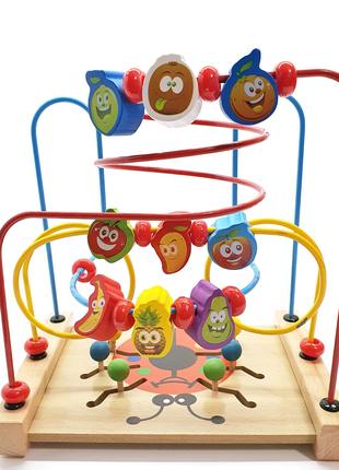 Развивающая игрушка, детский центр, деревянная игрушка,  лабиринт