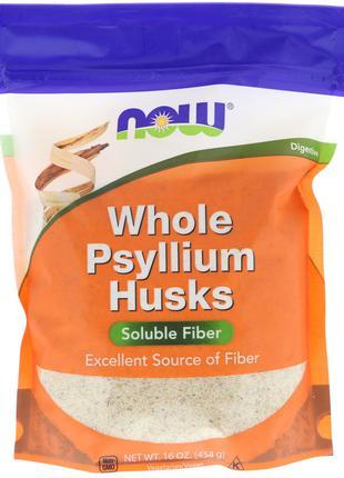 Цельная оболочка семян подорожника,454 г. Now Foods США
