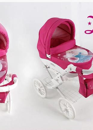 коляска для кукол  ADBOR LILY WHITE KOTEK