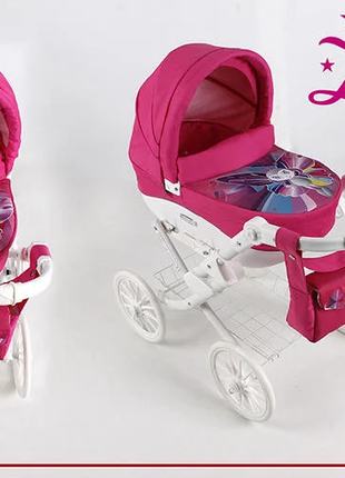 коляска для кукол ADBOR LILY WHITE MOTYLEK