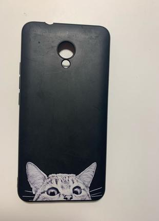 Чехол на телефон MEIZU с котиком