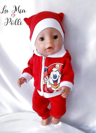 спортивный костюм тройка . одежда для кукол беби борн