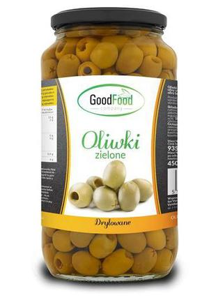 Маслини оливки  (Oliwki całe GoodFood) 935 гр.