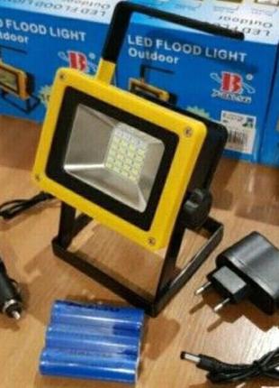 Сверхмощный переносной прожектор + стробоскоп для освещения на ры