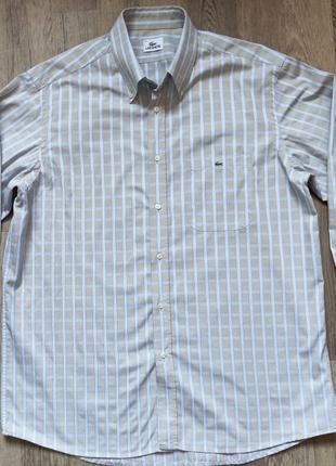 Мужская рубашка Lacoste XL, длинный рукав