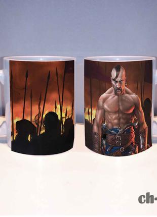 Чашка для мужчин с принтом козак