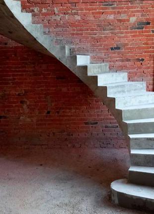 БЕТОННАЯ Лестница под ключ • МОНОЛИТНАЯ Железобетонная Лестница