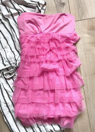 Розовое платье с фатином