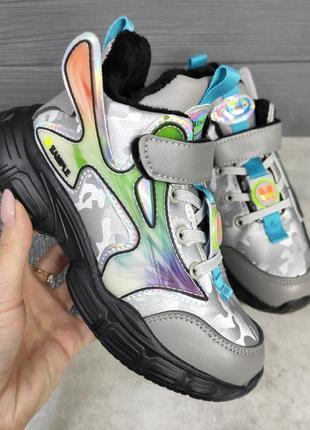 Кроссовки для девочки утеплённые, кроссовки на девочку, кроссо...