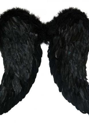 Маскарадный костюм черного ангела амура крылья большие