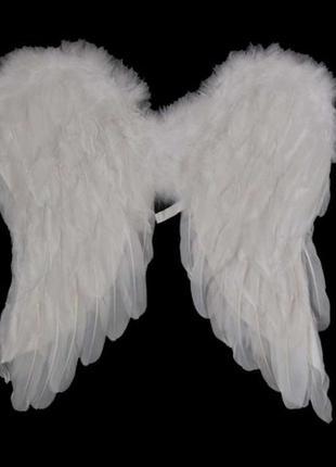 Костюм ангела амура крылья белые среднего размера