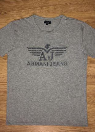 Armani jeans m серая футболка