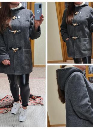 Пальто с меховым капюшоном tu/пальто большого размера