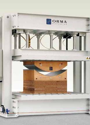 Пресс Orma PFS 80 HF для изготовления гнуто-клееных деталей