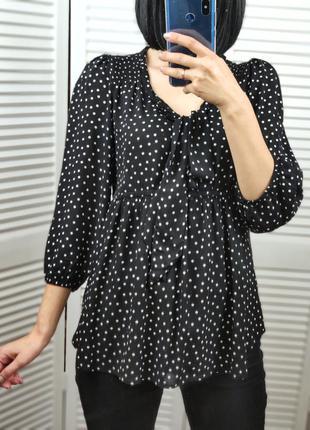 Блузка в горошек для беременных h&m, p-p eur s