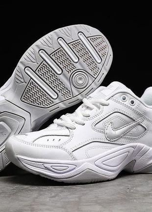 Новые женские белые кроссовки nike m2k tekno кожаные
