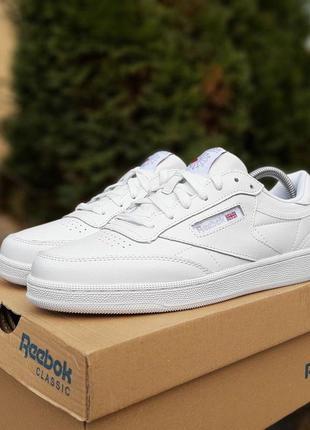 Новые женские белые кроссовки кеды на плоской подошве кожаные ...