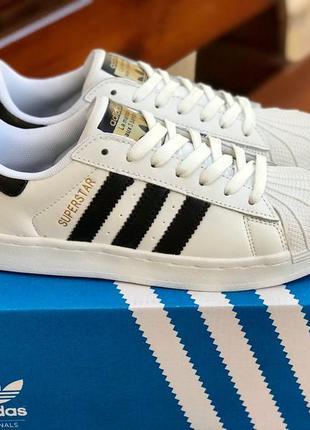 Новые белые женские кроссовки adidas superstar кроссы недорого...