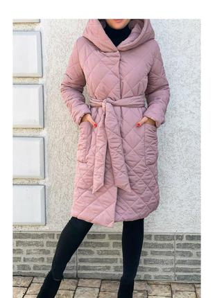 Куртка пальто стеганая зимняя 52