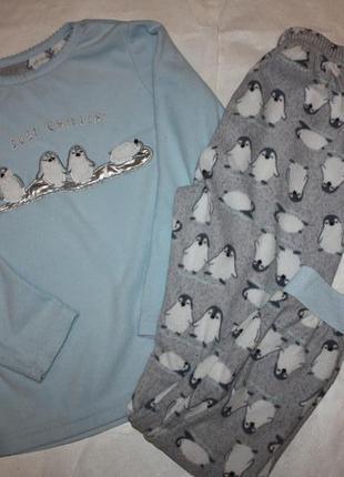Флисовая пижама ф.primapk для девочки,мальчику 8/9 лет,р-134 о...