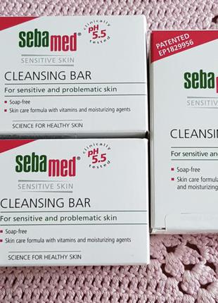 Sebamed sensitive skin cleansing bar мыло для нежного очищения...