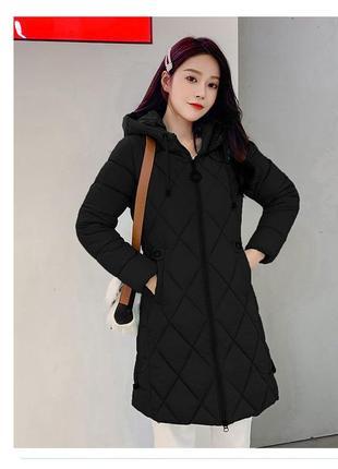 Стеганная куртка пуховик теплое пальто