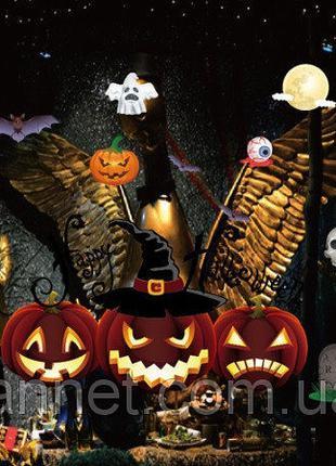 """Наклейка для Хэллоуина """"Тыквы"""" - размер стикера 50*70см"""