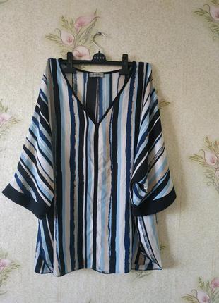 Женская блузка большого размера # блузка в полоску # soon