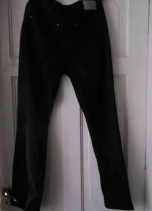 Джинсы черные, со стразами - Tchibo,хлопок 42 р.евро