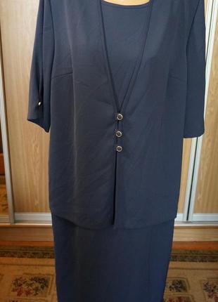 Классное платье двойка,обманка
