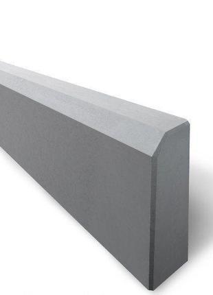 Бордюр садовый 500х200х43 мм, серый