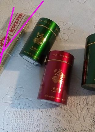 Три банки для чая | банки для специй чай | жестяная банка