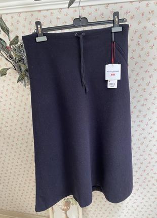 Актуальна шерстяная юбка uniqlo