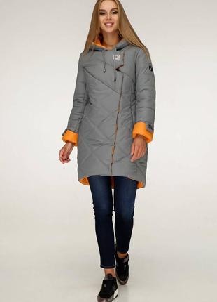 Пуховик с капюшоном, пальто зимнее стеганое
