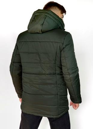 Зимняя Куртка на Пуху из Плащевки Три Цвета Мужская Пуховик Му...