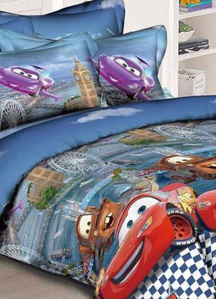 Комплект постельного белья тачки . ранфорс