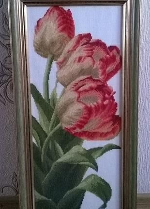 """Картина """"Тюльпаны""""  Вышивка крестиком"""