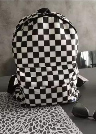 Рюкзак міський   городской   в клетку   клітинка   чорно-білий
