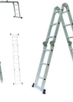 Лестница алюминиевая многоцелевая 4х4
