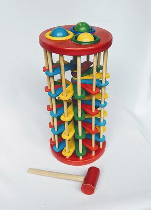 Эко игрушка деревянная стучалка молоток сортер.